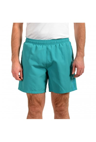 "Hugo Boss Men's ""Dolphin"" Green Logo Print Swim Board Shorts"