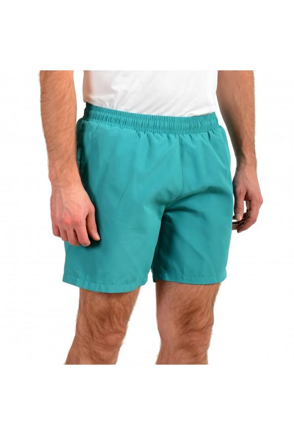 "Hugo Boss Men's ""Dolphin"" Green Logo Print Swim Board Shorts: Picture 2"