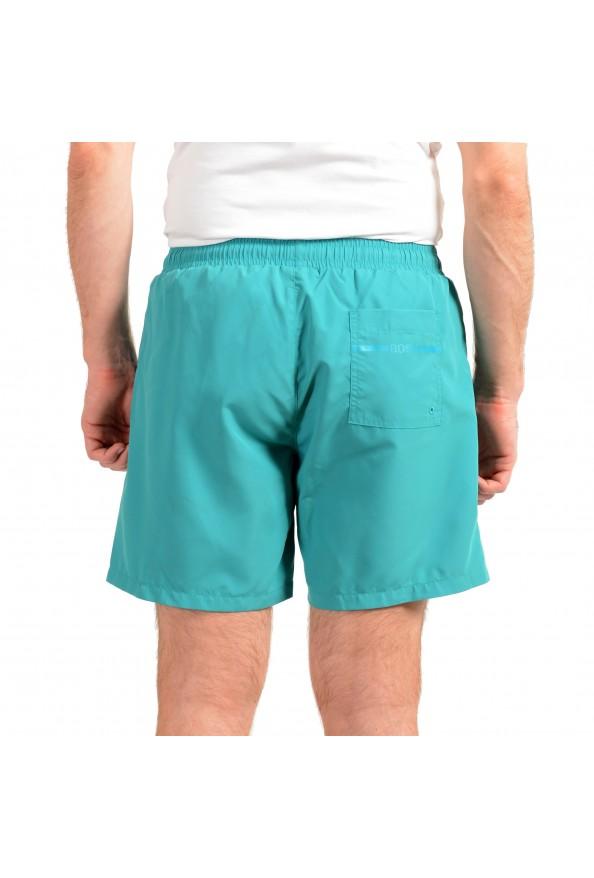 "Hugo Boss Men's ""Dolphin"" Green Logo Print Swim Board Shorts: Picture 3"