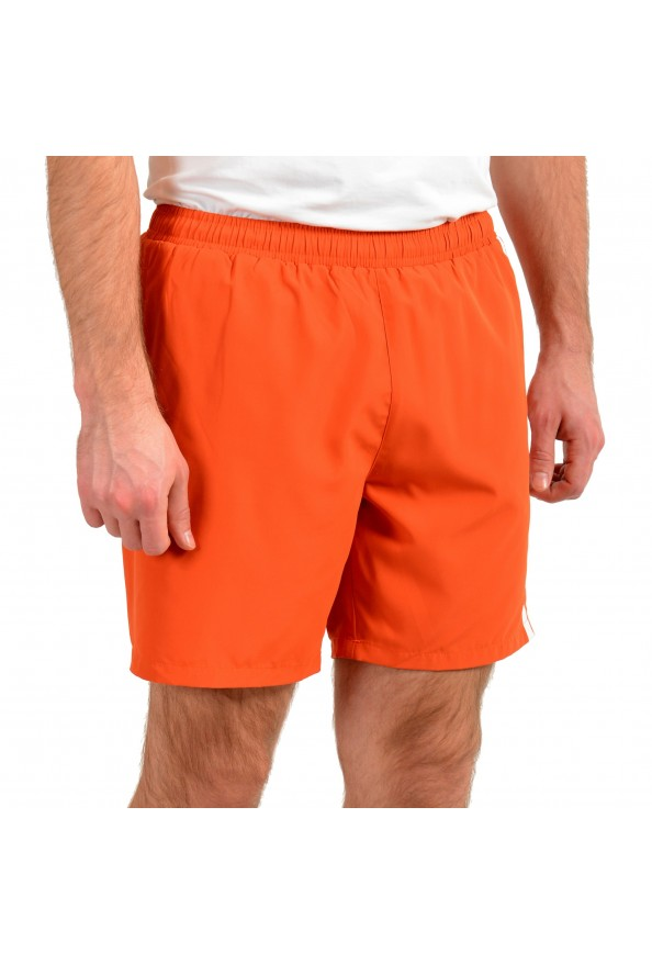 "Hugo Boss Men's ""Dolphin"" Orange Logo Print Swim Board Shorts: Picture 2"