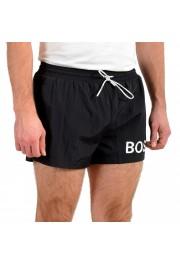 "Hugo Boss Men's ""Mooneye"" Black Logo Print Swim Board Shorts: Picture 2"