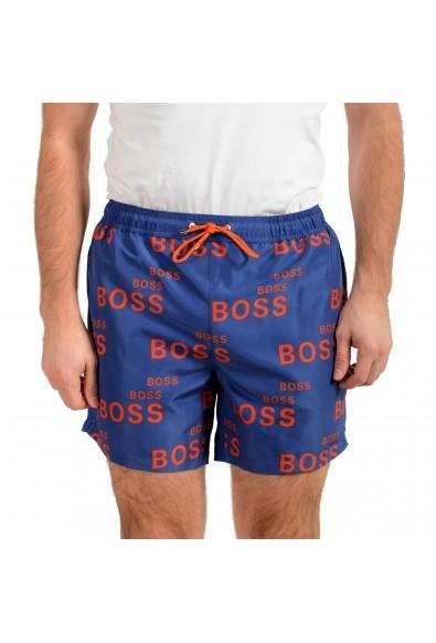 "Hugo Boss Men's ""Rayfish"" Multi-Color Logo Print Swim Board Shorts"