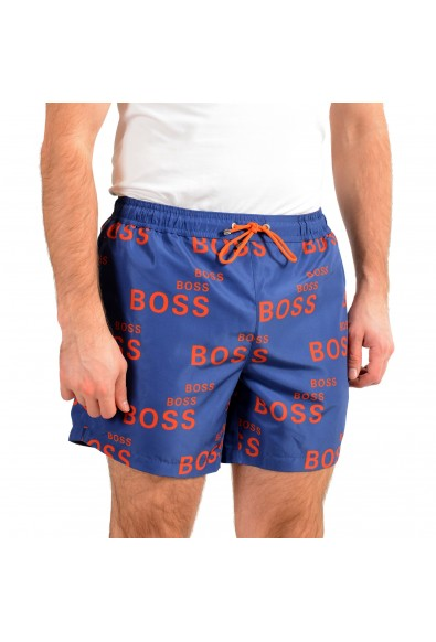 "Hugo Boss Men's ""Rayfish"" Multi-Color Logo Print Swim Board Shorts: Picture 2"