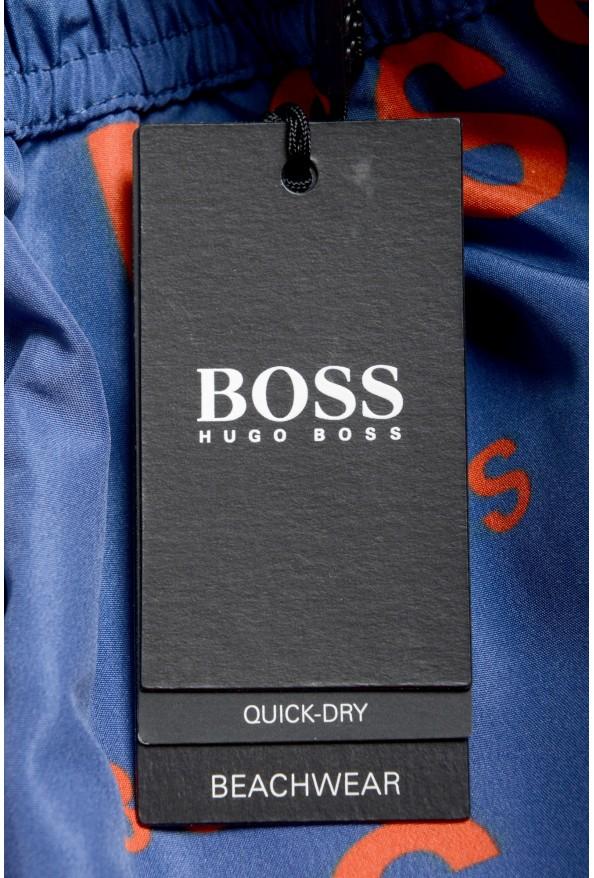 "Hugo Boss Men's ""Rayfish"" Multi-Color Logo Print Swim Board Shorts: Picture 4"