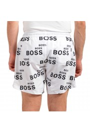 "Hugo Boss Men's ""Rayfish"" White Logo Print Swim Board Shorts : Picture 3"
