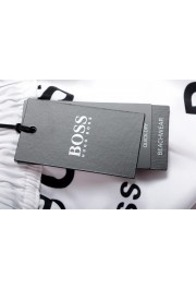 "Hugo Boss Men's ""Rayfish"" White Logo Print Swim Board Shorts : Picture 4"
