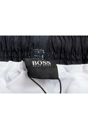 "Hugo Boss Men's ""Rayfish"" White Logo Print Swim Board Shorts : Picture 5"