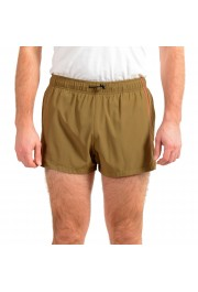 "Hugo Boss Men's ""Yoji"" Olive Green Swim Board Shorts"