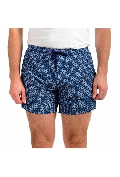"Hugo Boss Men's ""Herringfish"" Blue Graphic Print Swim Board Shorts"