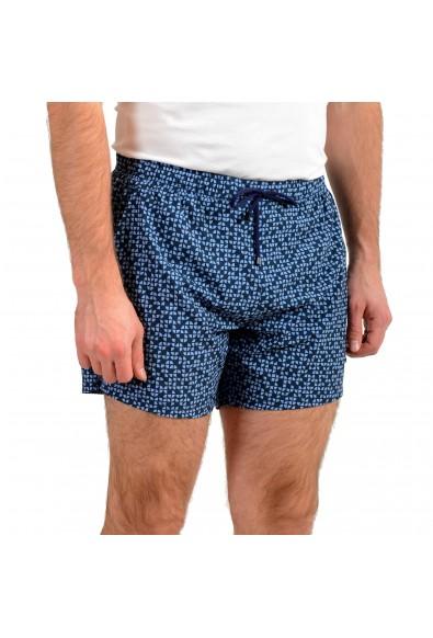 "Hugo Boss Men's ""Herringfish"" Blue Graphic Print Swim Board Shorts : Picture 2"