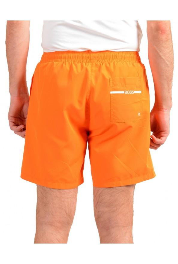 "Hugo Boss Men's ""Dolphin"" Orange Logo Print Swim Board Shorts: Picture 3"
