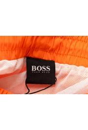 "Hugo Boss Men's ""Dolphin"" Orange Logo Print Swim Board Shorts: Picture 5"