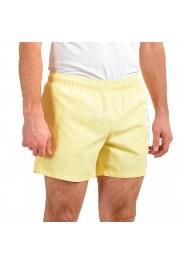 "Hugo Boss Men's ""ABAS"" Yellow Logo Print Swim Board Shorts: Picture 2"