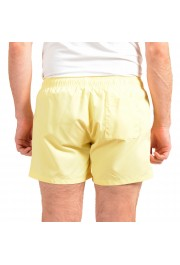 "Hugo Boss Men's ""ABAS"" Yellow Logo Print Swim Board Shorts: Picture 3"