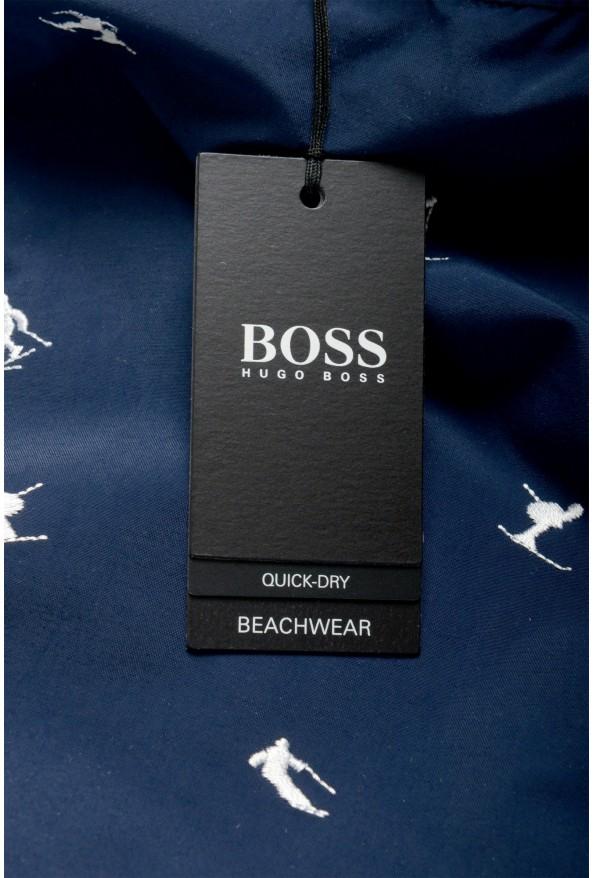 "Hugo Boss Men's ""White Shark"" Blue Embellished Swim Board Shorts : Picture 4"