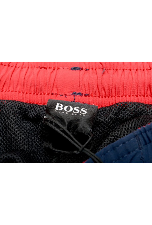 "Hugo Boss Men's ""White Shark"" Blue Embellished Swim Board Shorts : Picture 5"