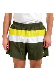 """Hugo Boss Men's """"Filefish"""" Striped Multi-Color Swim Board Shorts"""