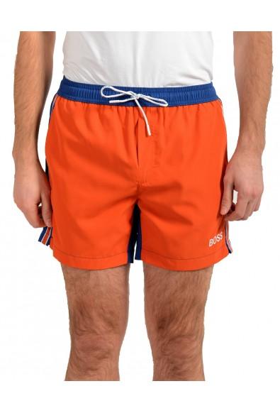 "Hugo Boss Men's ""Bluefish"" Two Tone Logo Print Swim Board Shorts"