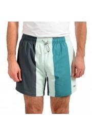 "Hugo Boss Men's ""Carp"" Striped Multi-Color Swim Board Shorts"