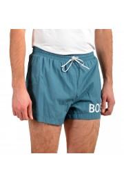 "Hugo Boss Men's ""Mooneye"" Cloud Blue Logo Print Swim Board Shorts: Picture 2"