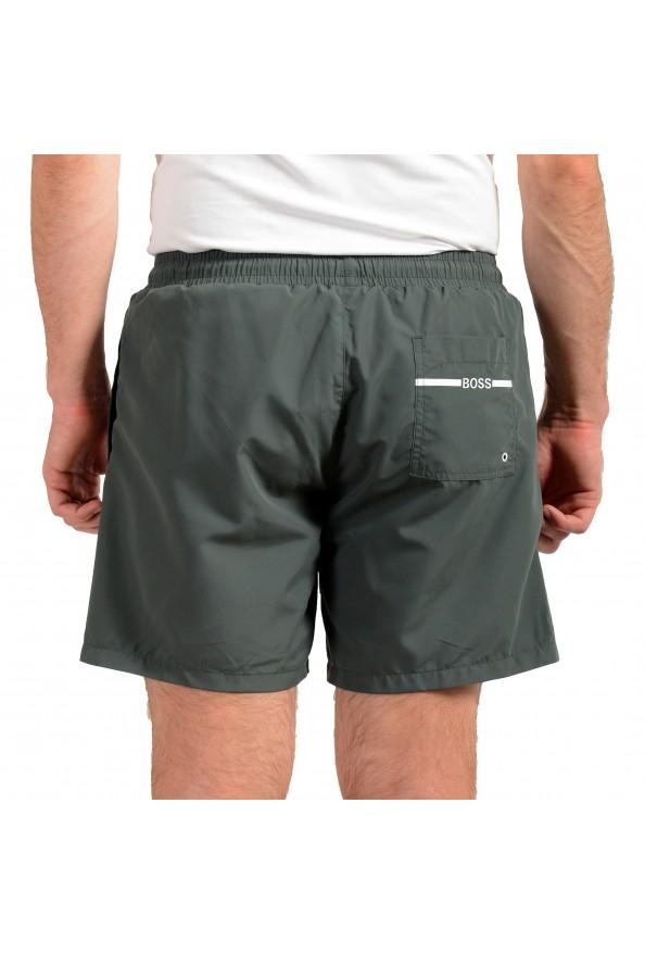 "Hugo Boss Men's ""Dolphin"" Gray Logo Print Swim Board Shorts: Picture 3"