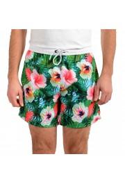 "Hugo Boss Men's ""Piranha"" Multi-Color Floral Print Swim Board Shorts"