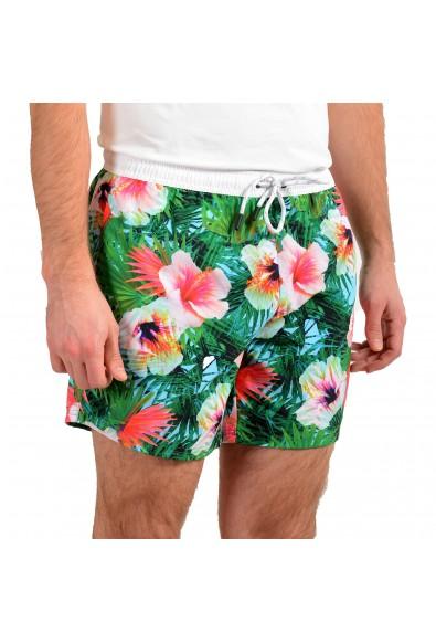 """Hugo Boss Men's """"Piranha"""" Multi-Color Floral Print Swim Board Shorts: Picture 2"""