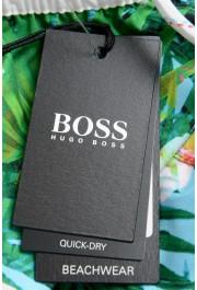 """Hugo Boss Men's """"Piranha"""" Multi-Color Floral Print Swim Board Shorts: Picture 4"""