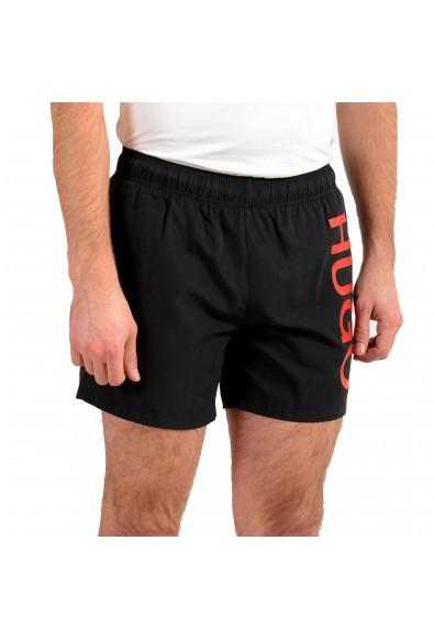 "Hugo Boss Men's ""ABAS"" Black Logo Print Swim Board Shorts: Picture 2"
