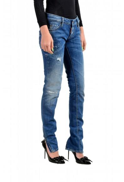 "Dsquared2 Women's ""Super Slim Jean"" Distressed Blue Skinny Jeans: Picture 2"