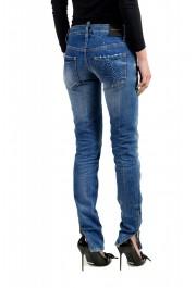 "Dsquared2 Women's ""Super Slim Jean"" Distressed Blue Skinny Jeans: Picture 3"