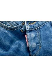 "Dsquared2 Women's ""Super Slim Jean"" Distressed Blue Skinny Jeans: Picture 4"