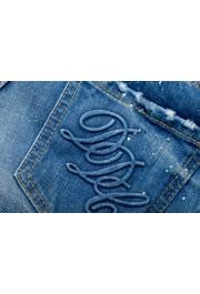 "Dsquared2 Women's ""Super Slim Jean"" Distressed Blue Skinny Jeans: Picture 6"