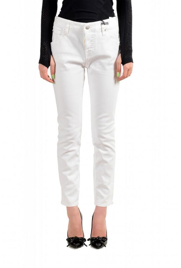 "Dsquared2 Women's ""Cool Girl Jean"" White Skinny Jeans"