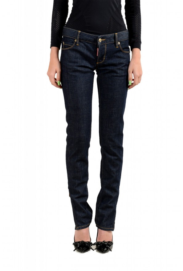 "Dsquared2 Women's ""Super Slim Jean"" Dark Blue Skinny Jeans"