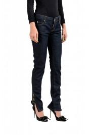 "Dsquared2 Women's ""Super Slim Jean"" Dark Blue Skinny Jeans: Picture 2"