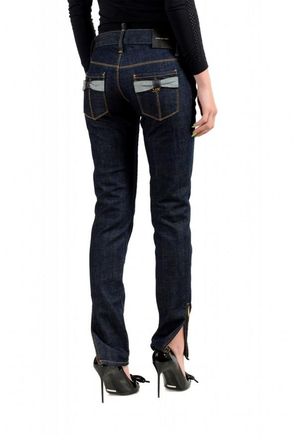 "Dsquared2 Women's ""Super Slim Jean"" Dark Blue Skinny Jeans: Picture 3"