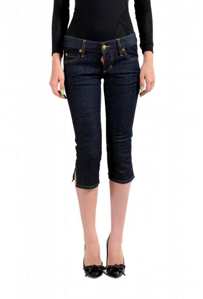 "Dsquared2 Women's ""Capri Jean"" Dark Blue Cropped Capri Jeans"