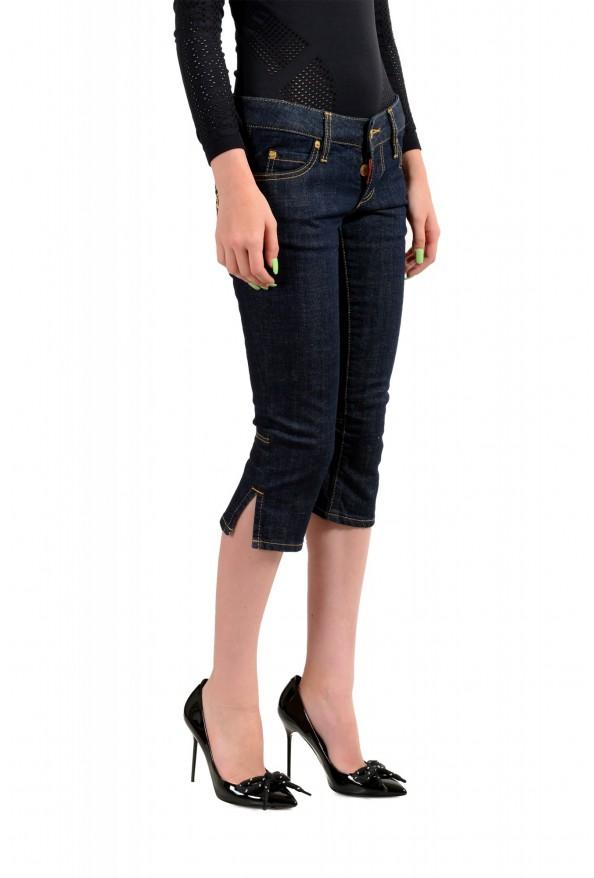 "Dsquared2 Women's ""Capri Jean"" Dark Blue Cropped Capri Jeans : Picture 2"