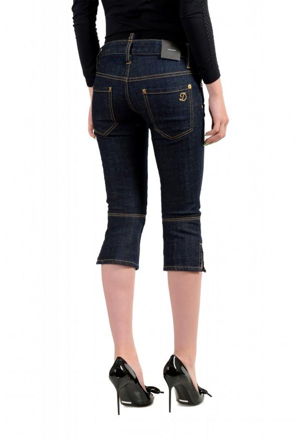 "Dsquared2 Women's ""Capri Jean"" Dark Blue Cropped Capri Jeans : Picture 3"