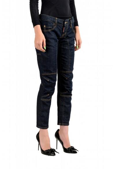 "Dsquared2 Women's ""Biker Jean"" Dark Blue Cropped Jeans: Picture 2"