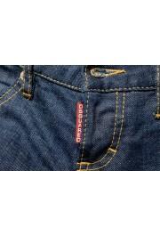 "Dsquared2 Women's ""Biker Jean"" Dark Blue Cropped Jeans: Picture 4"