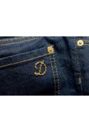 "Dsquared2 Women's ""Capri Jean"" Dark Blue Cropped Capri Jeans: Picture 6"