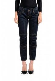 """Dsquared2 Women's """"Biker Jean"""" Dark Blue Cropped Jeans"""