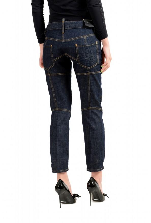 "Dsquared2 Women's ""Biker Jean"" Dark Blue Cropped Jeans: Picture 3"