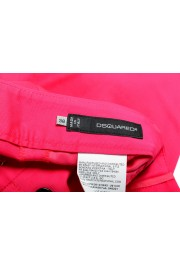 Dsquared2 Women's Bright Pink Flat Front Pants : Picture 4