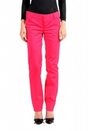 Dsquared2 Women's Bright Pink Flat Front Pants