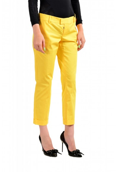 Dsquared2 Women's Bright Yellow Flat Front Pants : Picture 2