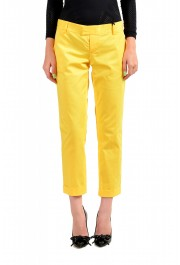 Dsquared2 Women's Bright Yellow Flat Front Pants