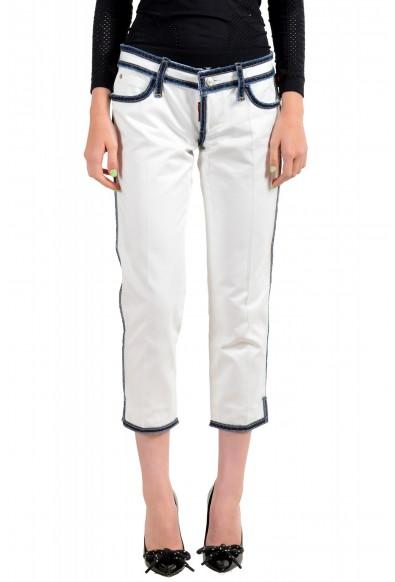 Dsquared2 Women's White Cropped Capri Jeans